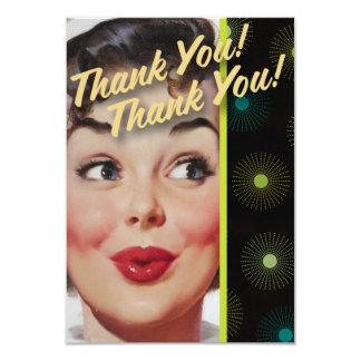 The Kitsch Bitsch : Thank You! Thank You! 9 Cm X 13 Cm Invitation Card
