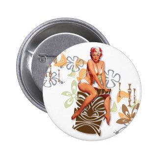 The Kitsch Bitsch : The Tiki Goddess 6 Cm Round Badge