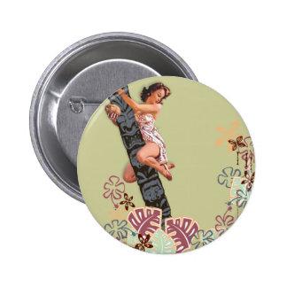 The Kitsch Bitsch : Up A Tiki Tree! 6 Cm Round Badge