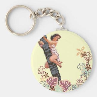 The Kitsch Bitsch : Up A Tiki Tree! Basic Round Button Key Ring