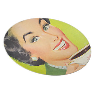 The Kitsch Bitsch™: Vintage Advertising Graphics Dinner Plates