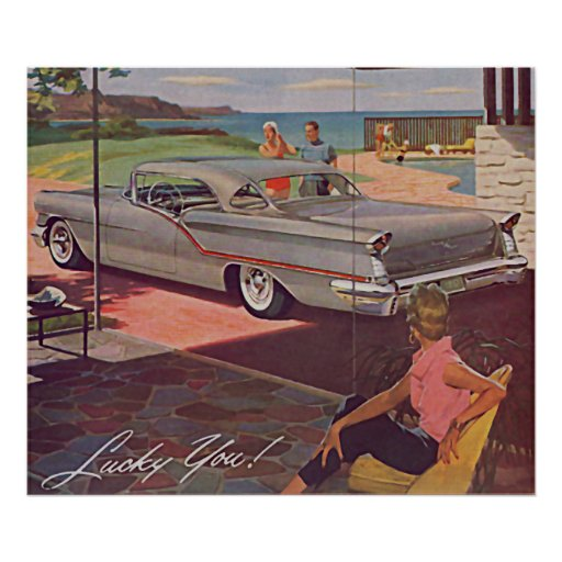 The Kitsch Bitsch : Vintage Automobile Graphic Poster