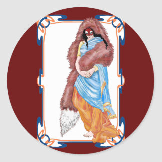 the kitsune's wedding round sticker
