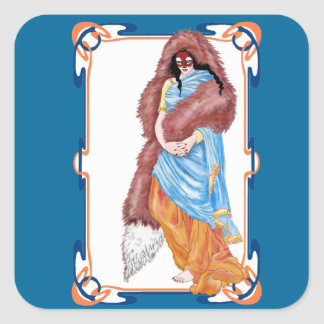 the kitsune's wedding square sticker