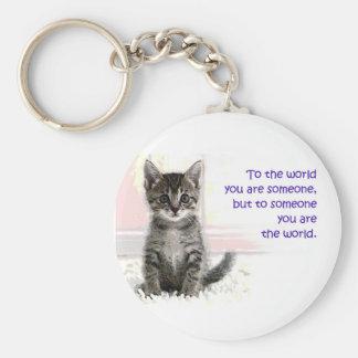 The Kitten s World Keychain