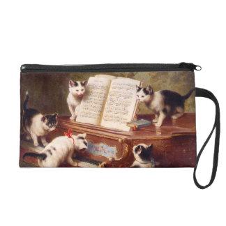 The Kitten's Recital - Vintage Cat Painting Wristlet