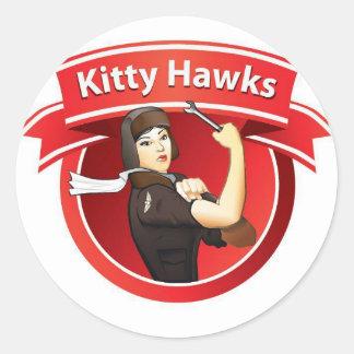 The Kitty Hawks Classic Round Sticker