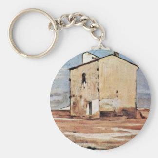 The Knacker'S Yard In Livorno By Fattori Giovanni Key Chain