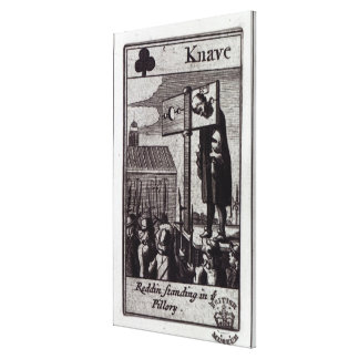 The Knave of Clubs Stretched Canvas Print