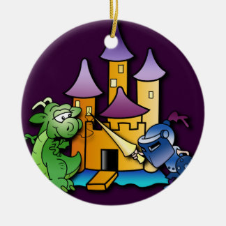 The Knight and the Dragon Christmas Ornament