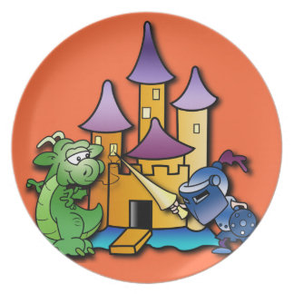 The Knight and the Dragon Plate