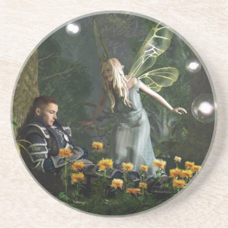 The Knight and The Faerie Drink Coasters