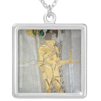 The Knight detail of the Beethoven Frieze Silver Plated Necklace