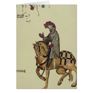 The Knight, facsimile detail from Greeting Card
