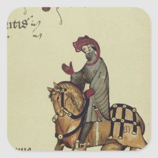 The Knight, facsimile detail from Square Sticker