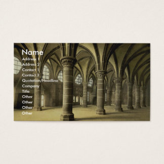 The knights' hall, Mont St. Michel, France vintage Business Card