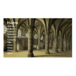 The knights' hall, Mont St. Michel, France vintage Pack Of Standard Business Cards