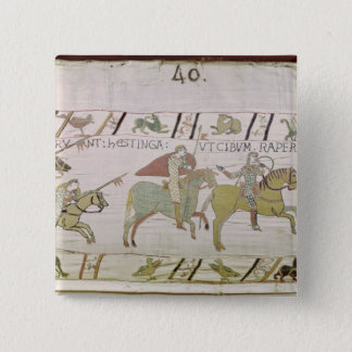 The Knights Ride to Hastings to Forage for 15 Cm Square Badge