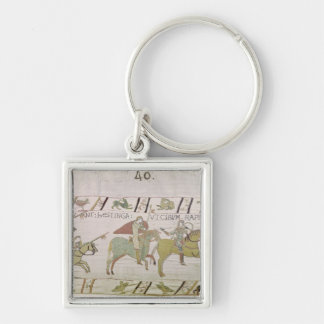 The Knights Ride to Hastings to Forage for Silver-Colored Square Key Ring
