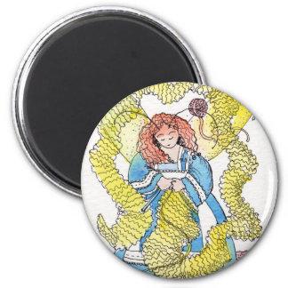 The Knitter 6 Cm Round Magnet