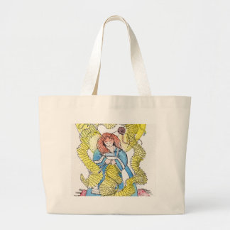 The Knitter Large Tote Bag