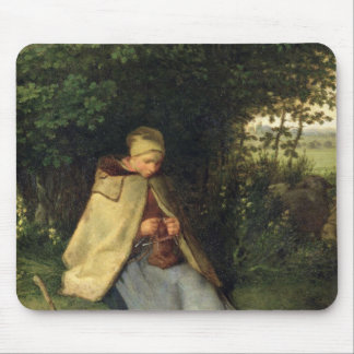 The Knitter or, The Seated Shepherdess, 1858-60 Mouse Mat