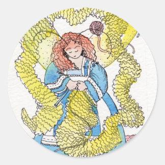 The Knitter Round Sticker