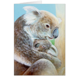 """The Koala cuddle"" portrait fine art card"