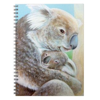 """The Koala cuddle"" portrait fine art notebook"