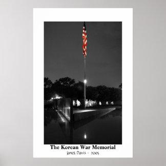 The Korean War Memorial by Janet Davis Poster