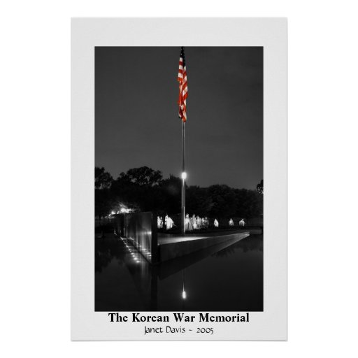 The Korean War Memorial by Janet Davis Poster