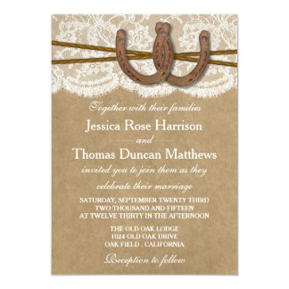 The Kraft, Lace & Horseshoe Collection Invitations