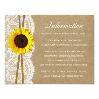 The Kraft, Lace & Sunflower Collection Detail Card