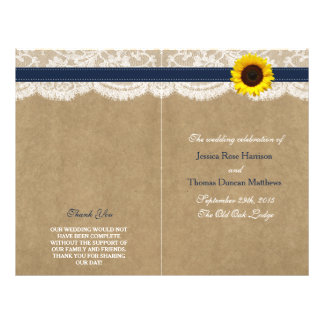 The Kraft, Lace & Sunflower Collection - Navy Flyer