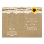 The Kraft, Lace & Sunflower Collection Programs 21.5 Cm X 28 Cm Flyer