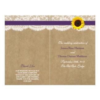 The Kraft, Lace & Sunflower Collection - Purple 21.5 Cm X 28 Cm Flyer