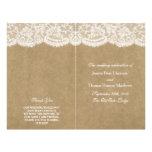 The Kraft & Lace Wedding Collection Programs 21.5 Cm X 28 Cm Flyer