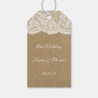 The Kraft & Lace Wedding Collection Tags