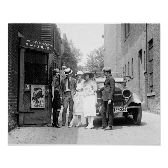 The Krazy Kat Speakeasy, 1921. Vintage Photo Poster