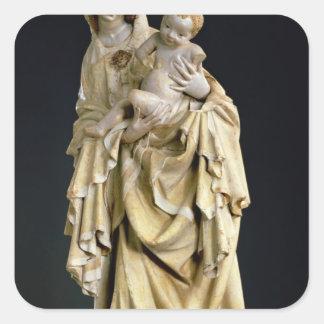 The Krumauer Madonna, c.1400 Square Sticker