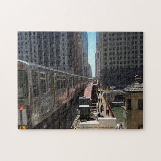 The 'L' Crossing the Chicago River Jigsaw Puzzle