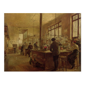 The Laboratory 1887 Postcard