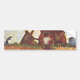 The Laborers by Georges Seurat Bumper Sticker