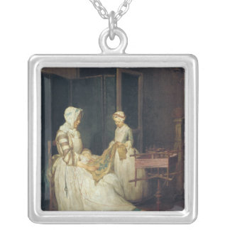 The Laborious Mother, c.1740 Silver Plated Necklace