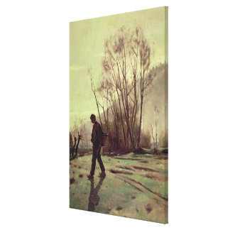 The Labourer Canvas Print