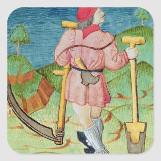 The Labourer Square Sticker
