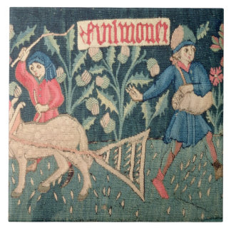 The Labours of the Months, Alsace (tapestry)		Vict Large Square Tile