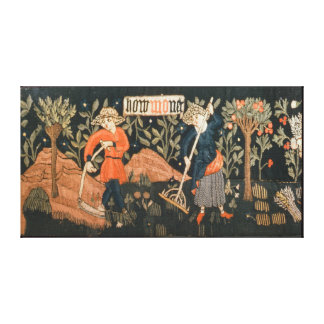The Labours of the Months, from Alsace Canvas Print