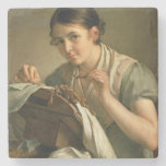 The Lacemaker, 1823 Stone Beverage Coaster
