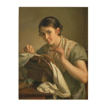 The Lacemaker, 1823 Wood Print